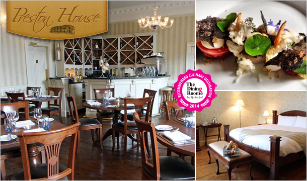 Preston House: Culinary Break for 2 including Room Upgrade and a 3 Course Meal each at Preston House, Co. Laois