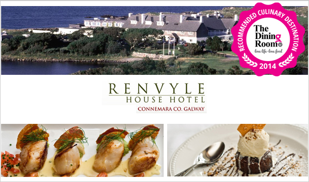 Experience a Culinary Break at Renvyle House Hotel in Connemara, Galway, 2 Nights for 2 including Breakfast, Prosecco and a 6 Course Award-Winning Dinner for only €318