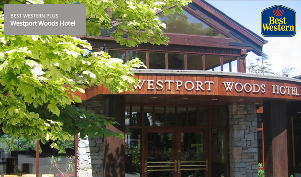 2 Nights B&B for 2 with Dinner & more at the Best Western Plus Westport Woods Hotel, Co. Mayo