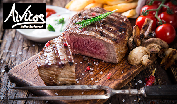 Alvito's: 2 Main Courses for 2 people at Alvito's Restaurant, Leixlip for Just €25