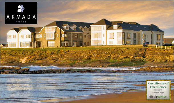 Armada Hotel: €69 instead of €139 for an Overnight Stay for 2 in an Ocean View Room at the Armada Hotel, Clare