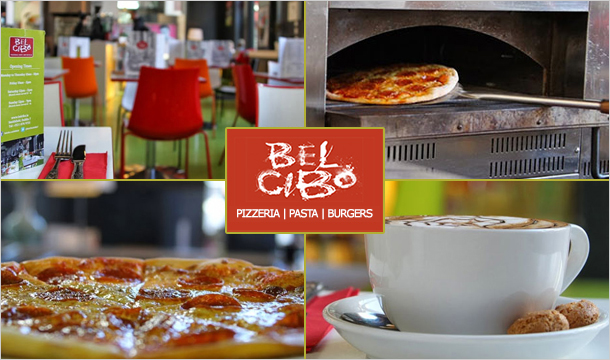 Bel Cibo Restaurant: €15 for Any 2 Pizza or Pasta Dish, or €19 incl 2 Glasses of Wine at Bel Cibo Pizzeria - 2 Locations