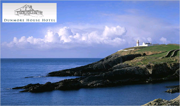 Dunmore House Hotel: 1 or 2 Nights B&B Stay for 2 with Wine, Golf & Late Checkout at the Dunmore House Hotel, Cork