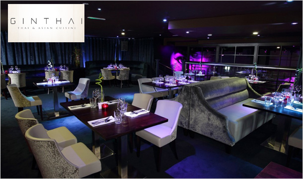 Ginthai Restaurant & Bar: €35 for a 2 Course Meal for 2 with a Glass of Wine or Cocktail Each at Ginthai Restaurant, Tallaght