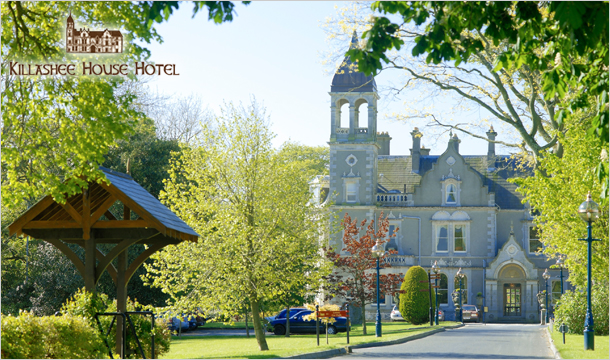 €169 for 1 Night or €288 for 2 Nights Stay for Two in a Superior Room including Breakfast, €10 Spa Credit, a 4 Course Meal with a Glass of Prosecco each and Macaroons on arrival, at the 4* Killashee House Hotel, Kildare