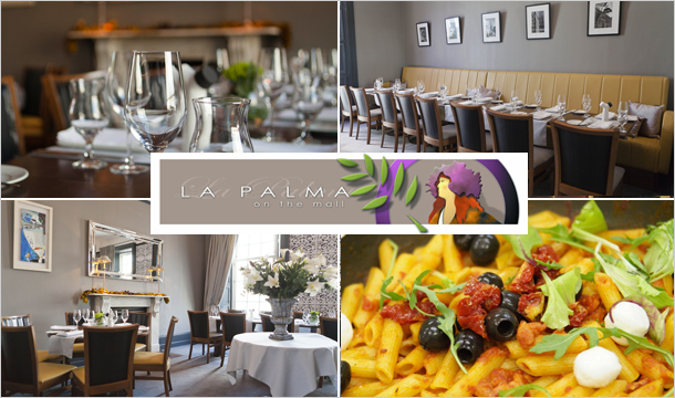 La Palma on the Mall: Dinner for 2 in the Award Winning Waterford Restaurant La Palma on the Mall only €55