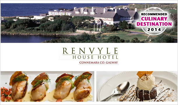 €318 for a 2 Nights stay for two including Breakfast, a Glass of Prosecco on arrival & a 6 Course Meal on an evening of your choice in the award winning Roisin Dubh at Renvyle House Hotel, Connemara, Co. Galway