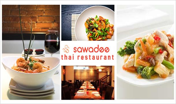 Sawadee Thai restaurant: 2 Mains, 2 Sides and 2 Glasses of Wine at Sawadee Thai, Terenure