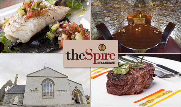 theSpire Restaurant: theSpire Restaurant in Duleek is offering 50% off vouchers for 2 or 4 people