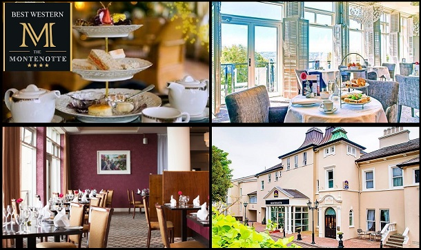 The Montenotte Hotel: Afternoon Tea for 2 with Prosecco in the Best Western Montenotte Hotel, over looking Cork City