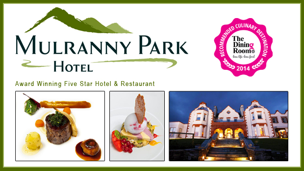Exclusive Culinary Break - 2 Nights BandB for 2 at 4-Star Mulranny Park, Westport with 5 Course Dinner in the Award-Winning Nephin Restaurant and Lots More for only €229