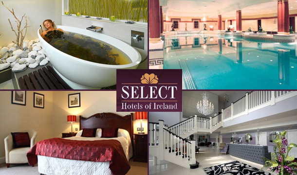 "€124 for 2 Nights in any of 19 Select Hotels across Ireland including Breakfast & Late Check-out plus €25 towards your next stay & a copy of the ""Ireland at a Glimpse Guide"" with €500 in discount vouchers for Ireland's top attractions"