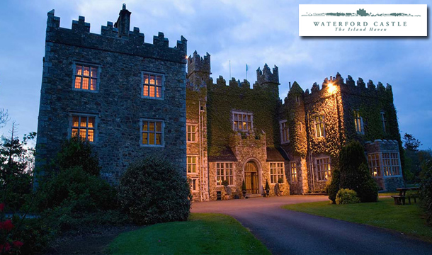 €99 for 1 Night or €189 for 2 Nights Stay in Lavish Accommodation for Two including Breakfast at Waterford Castle Hotel and Golf Resort.