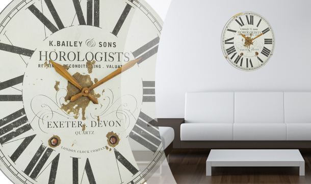 Shopping Village: Large Station Wall Clock