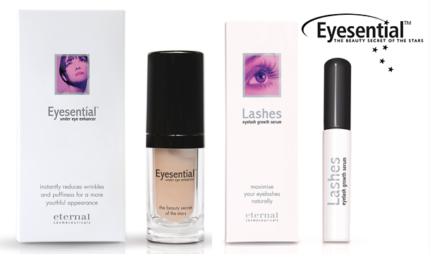 Hollywood's Hottest Beauty Secret - €36 for Eyesential Under Eye Enhancer and Lashes Eyelash Serum, Delivered. (Worth €121).