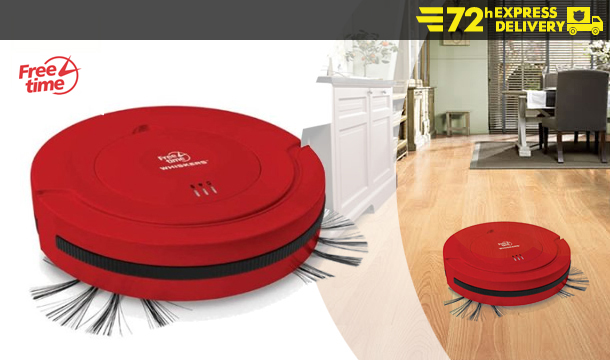 €89.99 Freetime 'Whiskers' Robot Vacuum Cleaner