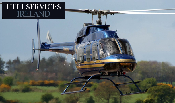 Heliservices Ireland: VIP Helicopter flight for 1 Person, followed by lunch at Gourmet Food Parlour