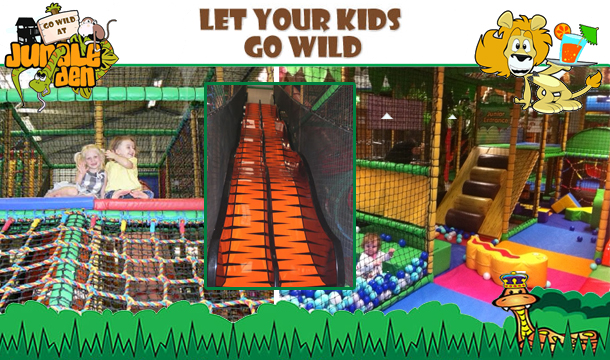 Let your Kids go Wild, Swing like Monkeys, Slide like Snakes, Roar like Lions at The Jungle Den Indoor Adventure, Naas, Kildare from €4.50!