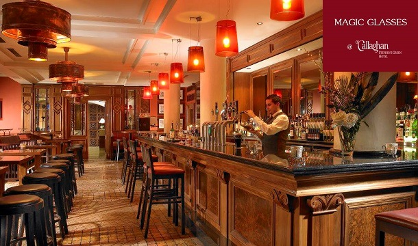 O'Callaghan Hotels: 3-course Meal for 2 including a Bottle of Wine at Magic Glasses Bar, Dublin 2