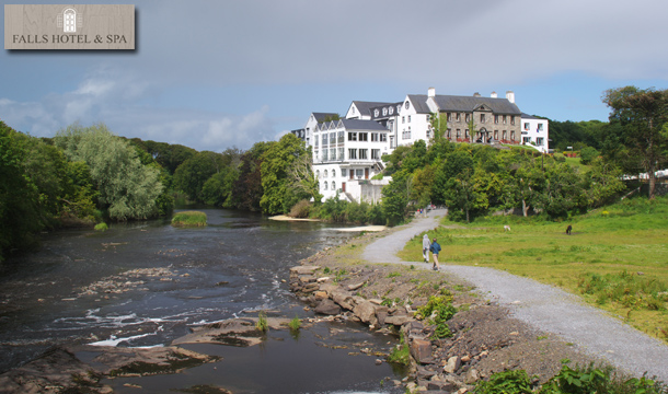€99 for 2 Nights for 2 including Breakfast, a Bottle of Wine and Late Checkout at the Falls Hotel and Spa, Ennistymon, Co. Clare!