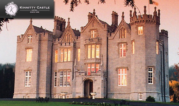 €89 for One night or €149 for 2 nights B&B for 2 in an Abbey Court Room, with afternoon tea and late checkout at Kinnitty Castle Hotel.