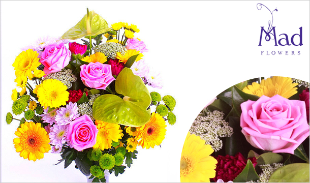 Mad Flowers: Large Autumn Mix Bouquet for just €39, Delivered Nationwide from Mad Flowers.