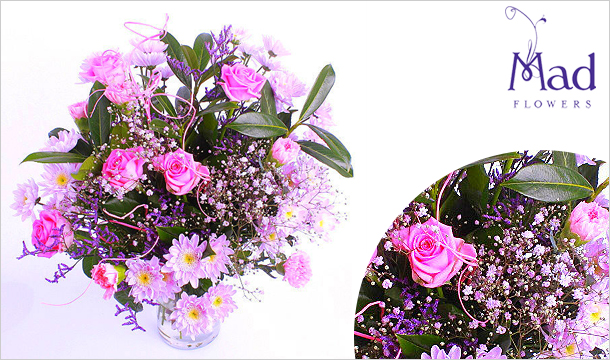 Mad Flowers: All Pinks Bouquet for just €39, Delivered Nationwide from Mad Flowers.