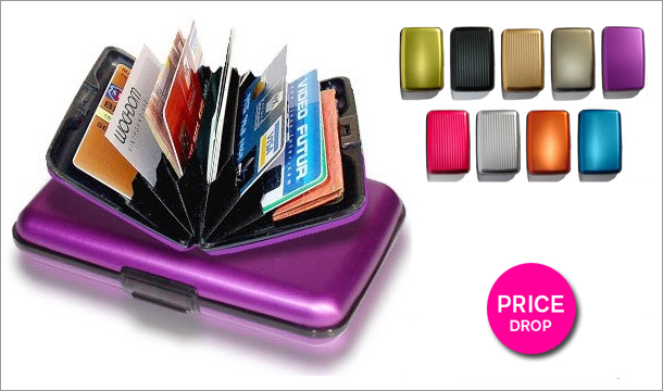 Stock Clearance -  €12.99 for 2 Aluminium Cash and Card Wallets, Delivered!