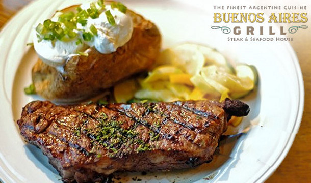 €30 for an Argentinian Barbeque for 2 including a Glass of Wine each at Buenos Aires Grill Seafood and Steakhouse, Dublin 2