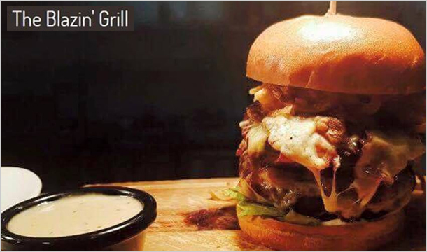 The Blazin' Grill: Save 50% on Lunch at The Blazin Grill, D24