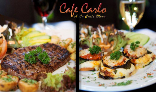 Carlo's: Enjoy a Fabulous 10oz Sirloin Steak with a Glass of Wine for 2 just €19 at Carlo's, D1!