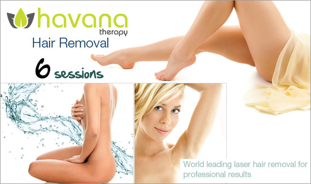 €99 instead of €595 for 6 sessions of laser hair removal on any 2 areas or 1 large area at Havana Therapy, Dundrum or Walkinstown