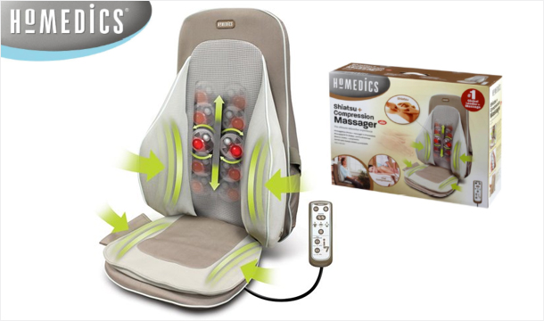 The ultimate relaxation experience - 96.99 for a HoMedics Shiatsu and Compression Massager, Delivered! (Worth 230!)
