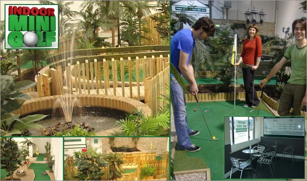 Great Family Day Out - €14 for Admission for 2 Adults and 2 Children at Ireland's First 18 Hole Indoor Crazy Golf Course at Indoor Mini Golf, Naas, Kildare.