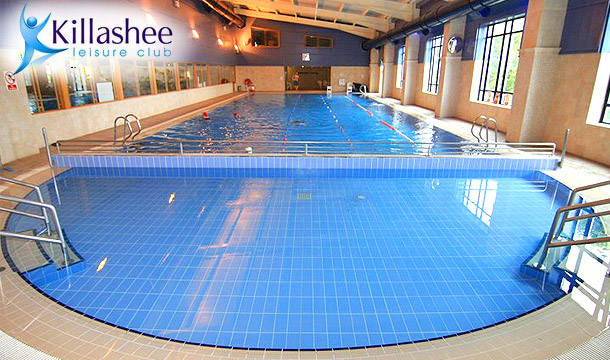 €20 for 10 passes or €35 for 20 passes to Killashee Leisure Club in Killashee House Hotel, Naas