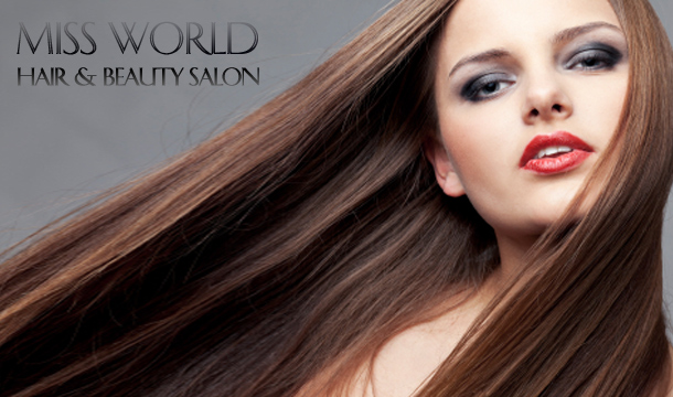 Miss World Hair & Beauty Salon: Hair Cut with Blow Dry & Treatment  at Miss World Hair & Beauty Salon, D2 & D6