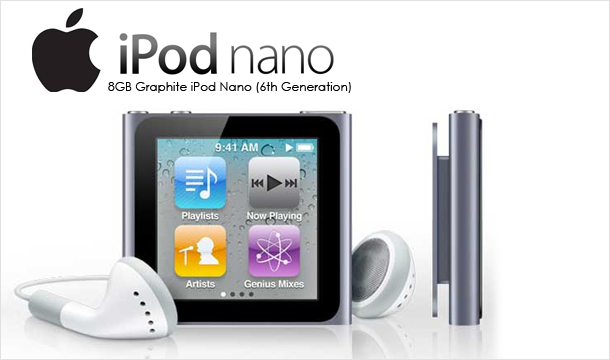 €109 for a genuine Apple 8GB Graphite iPod Nano (6th Generation), Delivered!