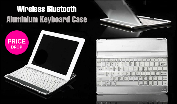 €34.99 for Wireless Bluetooth Aluminium Keyboard Case (3-in-1 Design) for iPad 2, 3 and iPad 3 with Retina Display, Delivered!  (Not compatible with iPad mini)