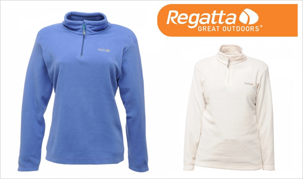 €15 for Women's Regatta Fleece (Half Zip), available in a choice of colours & sizes, delivered!
