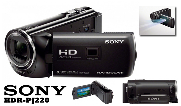 349 for Sony HDR-PJ220 Full HD Projector Camcorder, Delivered!