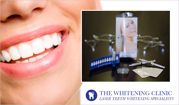 25 for a Professional Natural Home Teeth Whitening Kit (Zero Peroxide) delivered from one of Ireland&#146;s longest-established teeth whitening clinics, The Whitening Clinic!