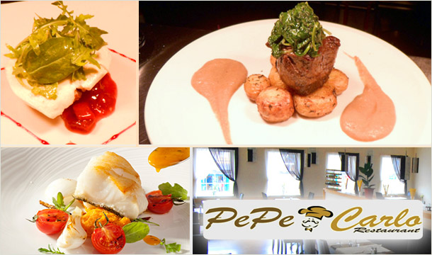 Experience the atmosphere and exquisite selection of food and drink at Pepe Carlo. For just 15 instead of 30 two people can enjoy the local fare of this Newbridge Restaurant!